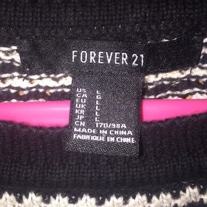 Forever 21 striped crop knit sweater